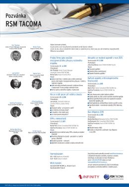 Jarní semináře pořádané společností RSM TACOMA a.s.