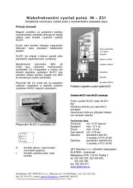 Nízkofrekvenční vysílač pulsů IN – Z31