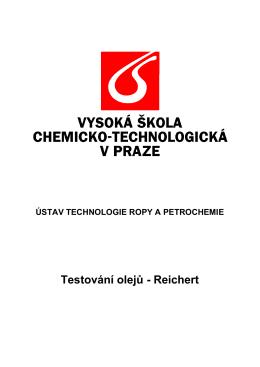 Testování olejů - Ústav technologie ropy a alternativních paliv