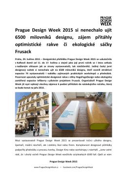 Prague Design Week 2015 si nenechalo ujít 6500 milovníků