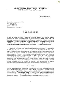 Kasino Žďárek - Zamítnutí odvolání investora 2015