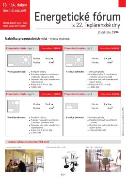 Možnosti prezentace - Energetické fórum a Teplárenské dny 2016