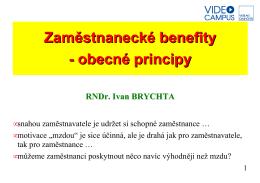 Zaměstnanecké benefity - obecné principy