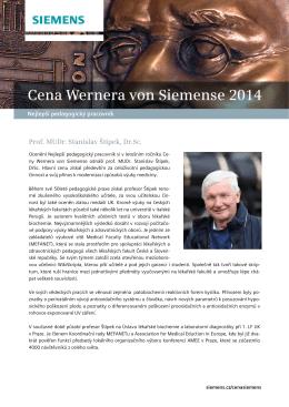 Cena Wernera von Siemense 2014