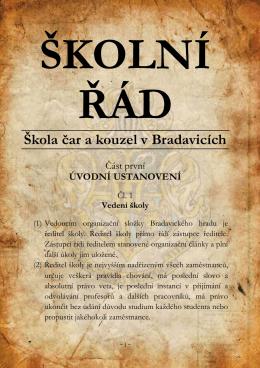 ŠKOLNÍ ŘÁD - BRADON.cz