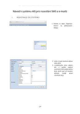 Návod k systému AIS pro rozesílání SMS a e
