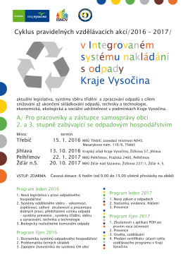 v Integrovaném systému nakládání s odpady Kraje Vysočina