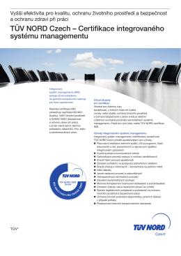 Certifikace integrovaného systému managementu