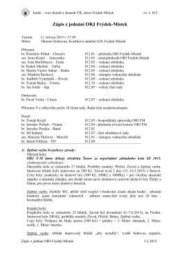 Zápis ORJ 11. 6. 2015 - Skauti Frýdek Místek
