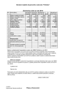 závěrečný účet 2014