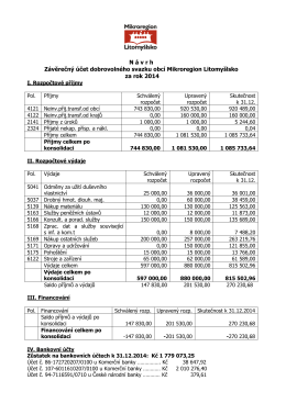 Závěrečný účet dobrovolného svazku obcí Mikroregion Litomyšlsko