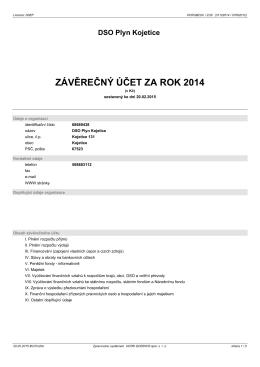 ZÁVĚREČNÝ ÚČET ZA ROK 2014 - Městys Rokytnice nad Rokytnou
