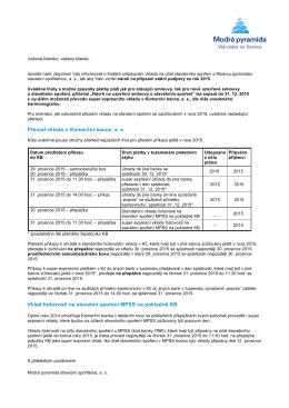 Informace o lhůtách připisování vkladů na účet