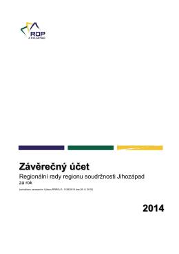 Závěrečný účet RRRSJ za 2014