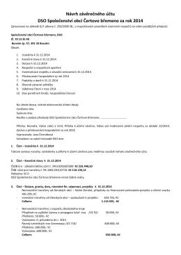 Návrh závěrečného účtu DSO Společenství obcí Čertovo břemeno