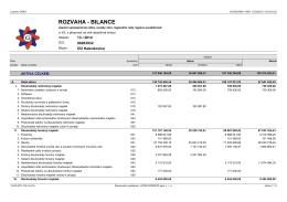 Závěrečný účet 2014 - Rozvaha-bilance.