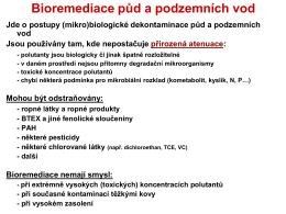Bioremediace půd a podzemních vod - uiozp - ft