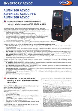 invertory ac/dc alfin 200 ac/dc alfin 221 ac/dc pfc alfin 300 ac/dc