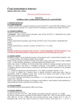 Rozpis kvalifikace o účast v extralize juniorů a juniorek U19