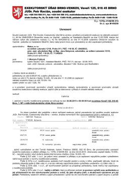 Usnesení - Exekutor Brno