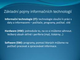 Základní pojmy informačních technologií