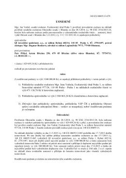 140 EX 00695/13, povinný Přibyl, usnesení o rozvrhu ze dne 2.11