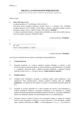 smlouva o postoupení pohledávek - JUDr. Jiří Voda, LL.M., advokát