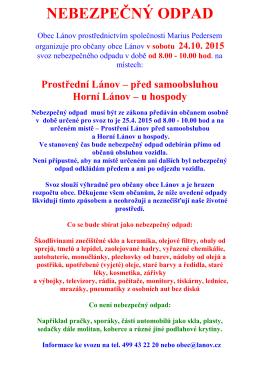 Obec Lánov prostřednictvím společnosti Marius Pedersen a