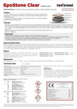 materiálový list EpoStone - unikátní pojivo
