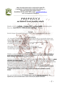 propozice - Klub chovatelů hrubosrstých a maďarských ohařů ČR