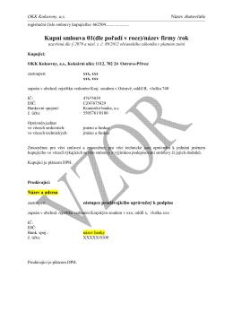 kupni smlouva vzor - OKK Koksovny, a.s.