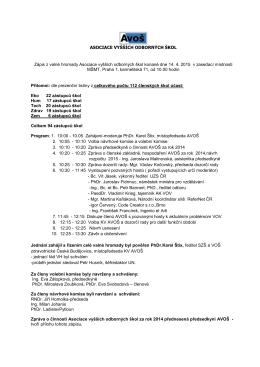 Zápis z valné hromady ze dne 14. 4. 2015