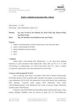 Zápis z jednání programového výboru