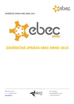 ZÁVĚREČNÁ ZPRÁVA EBEC BRNO 2015