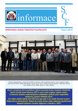 Informace SČF 3/2015