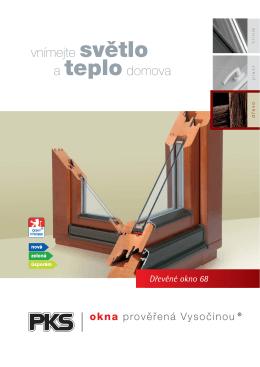 Dřevěné okno 68
