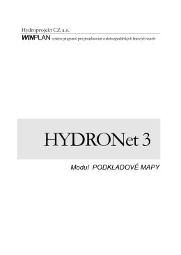 HYDRONet 3 - Příručka pro modul Podkladové mapy