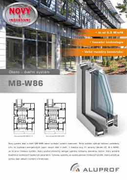 Prospekt okeno – dveřních systémů MB-W86