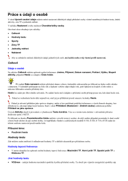 ProTrainer5 - zadání osoby / uživatele