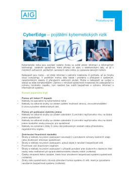 CyberEdge – pojištění kybernetických rizik