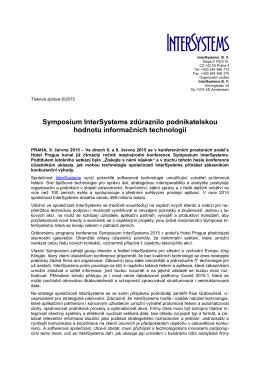 Symposium InterSystems zdůraznilo podnikatelskou hodnotu