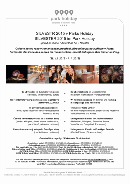 SILVESTR 2015 v Parku Holiday SILVESTER 2015 im Park Holiday