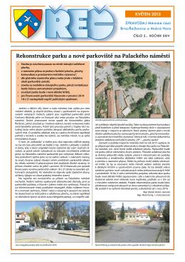 Rekonstrukce parku a nové parkoviště na Palackého náměstí