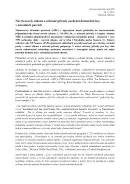 Tisková zpráva SVR NP Šumava