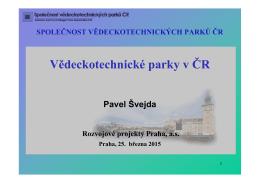 Vědeckotechnické parky v ČR
