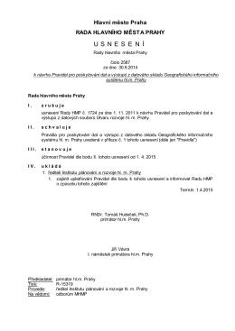 Usnesení Rady HMP