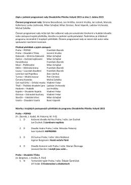 Zápis z jednání programové rady DPV 2015