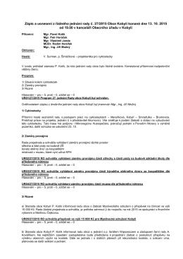 Zápis a usnesení rady č. 33(27/2015)