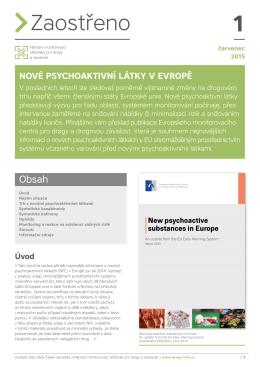 Nové psychoaktivní látky v Evropě - Drogy
