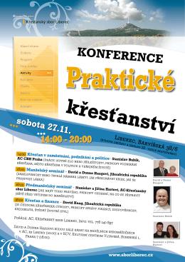 14:00 - 20:00 - Křesťanský sbor (www.sborliberec.cz)